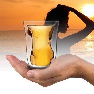 Svůdná sklenice žena