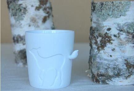 Porcelánový hrneček s ocáskem - koloušek