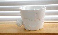 Porcelánový hrneček s ocáskem - králík