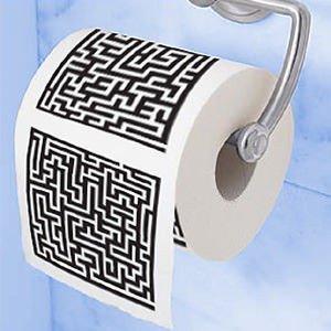 Toaletní papír labyrint