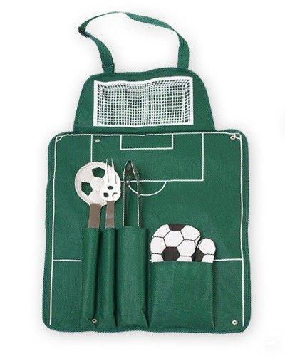 Fotbalová grilovací sada - zelená