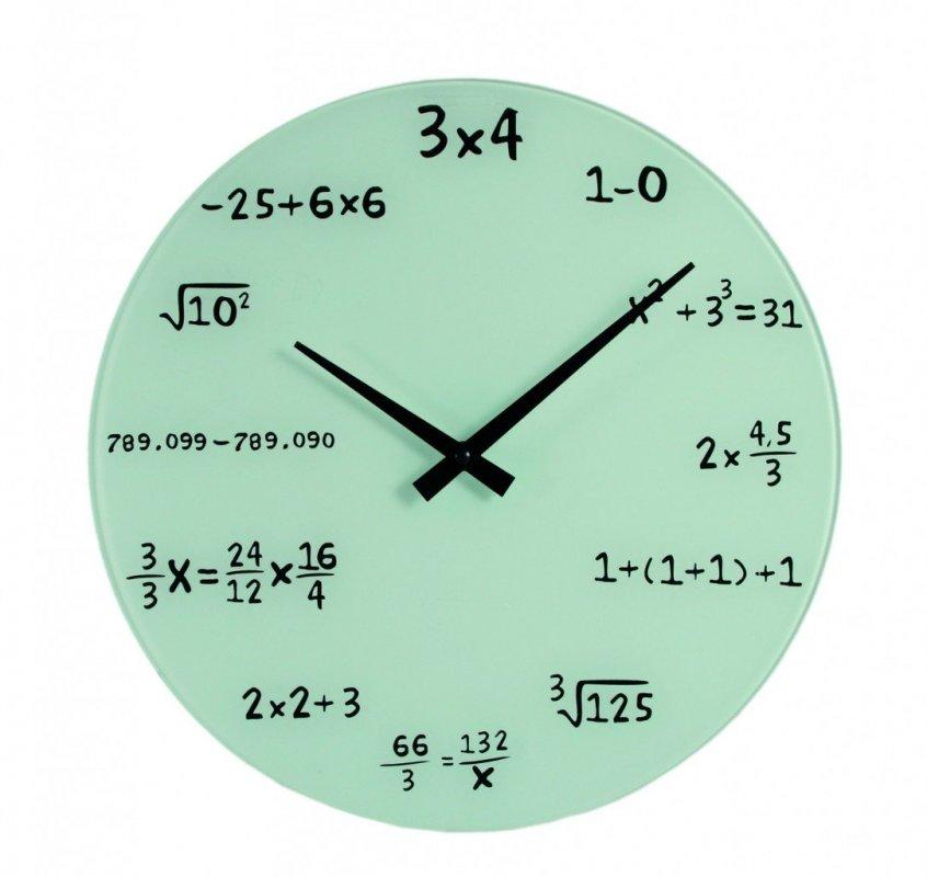 Matematické hodiny skleněné