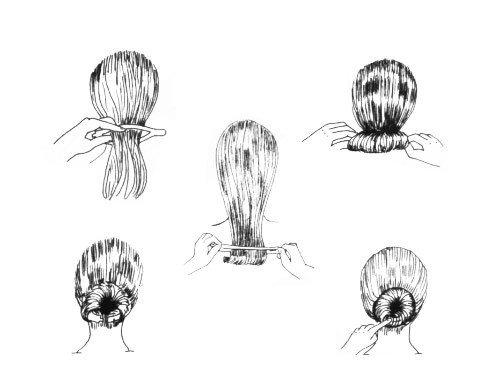 Spona do vlasů na vytvoření drdolu