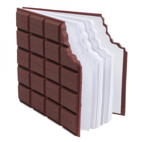 Poznámkový blok ukousnutá čokoláda