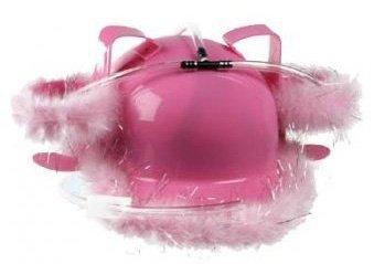Pivní helma - růžová