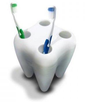 Zubní držák kartáčků - Bílá