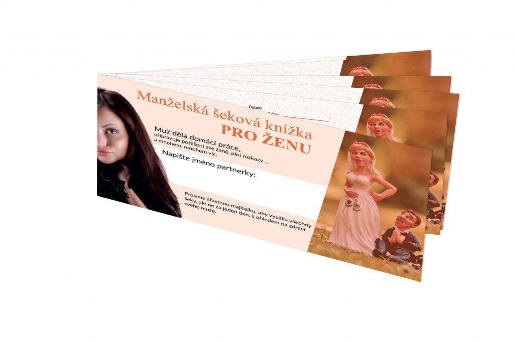 Manželská šeková knížka pro ŽENU