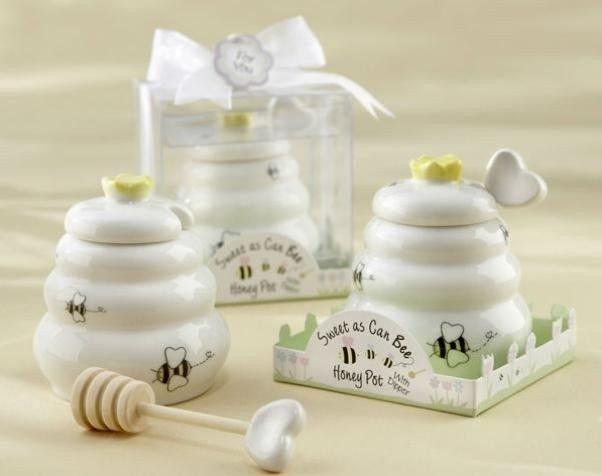 Porcelánová nádoba na med