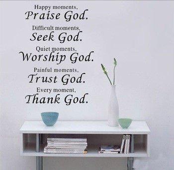 Dekorativní nálepka na zeď - PRAISE GOD