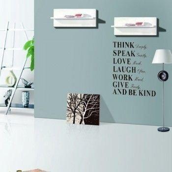 Dekorativní nálepka na zeď - THINK DEEPLY