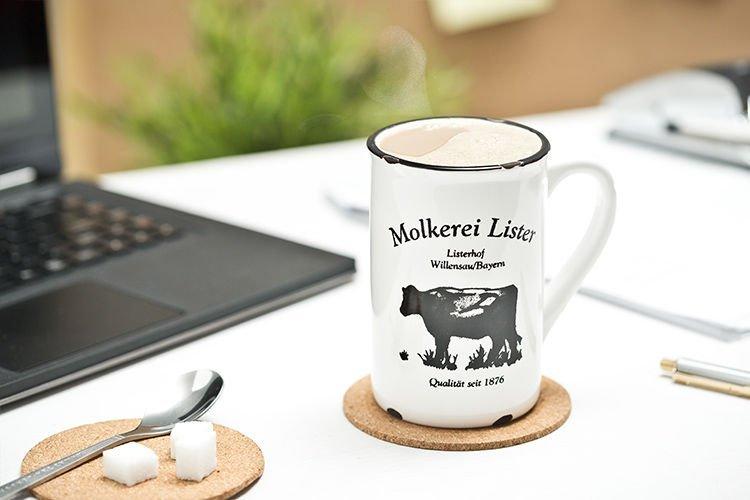 Porcelánový retro hrneček - Milk cow