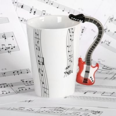 Kytarový hrnek - červený