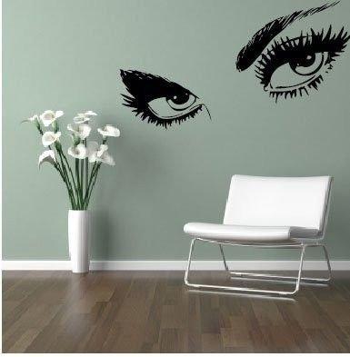 Dekorativní nálepka na zeď - EYES Audrey Hepburn