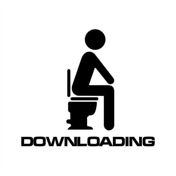 Samolepka na toaletu DOWNLOADING