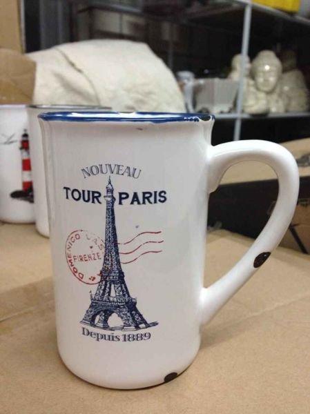 Porcelánový retro hrneček - Paris
