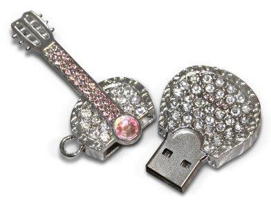 USB flash disk diamantová kytara 8 GB