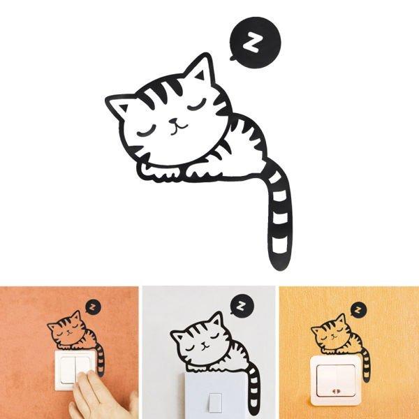 Samolepka na vypínač kočka