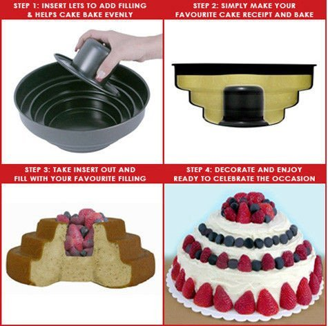 Třípatrová forma na dorty