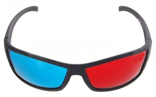 3D brýle barevné