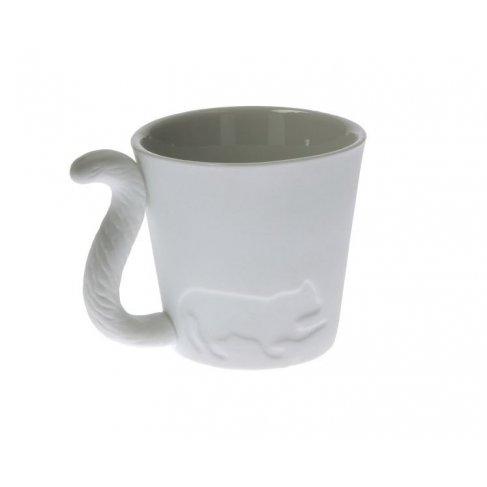Porcelánový hrneček s ocáskem - kočka