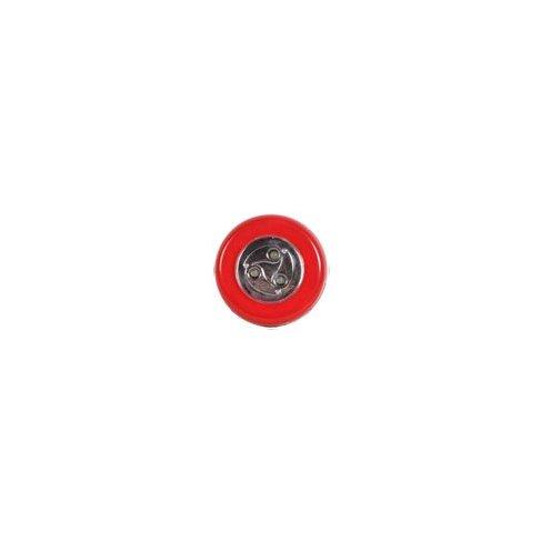 Samolepící lampička 3 LED červená